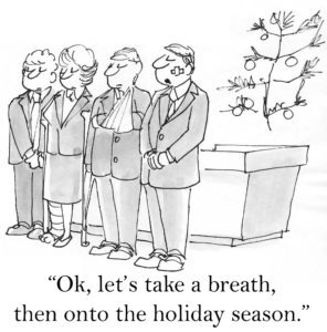 Take a breath before the holiday season
