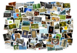 Stack of photos – background