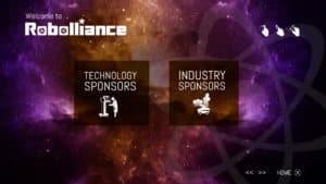 Robolliance Kiosk Technology Sponsors and Industry Sponsors Screen
